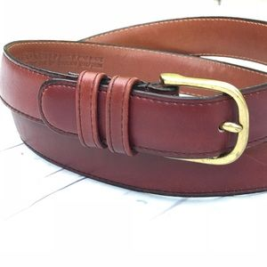 Leather burgundy leather belt from COACH